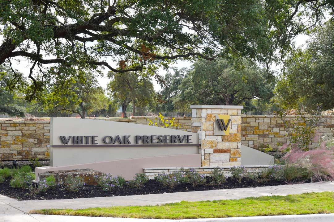 White Oak Preserve Entrance