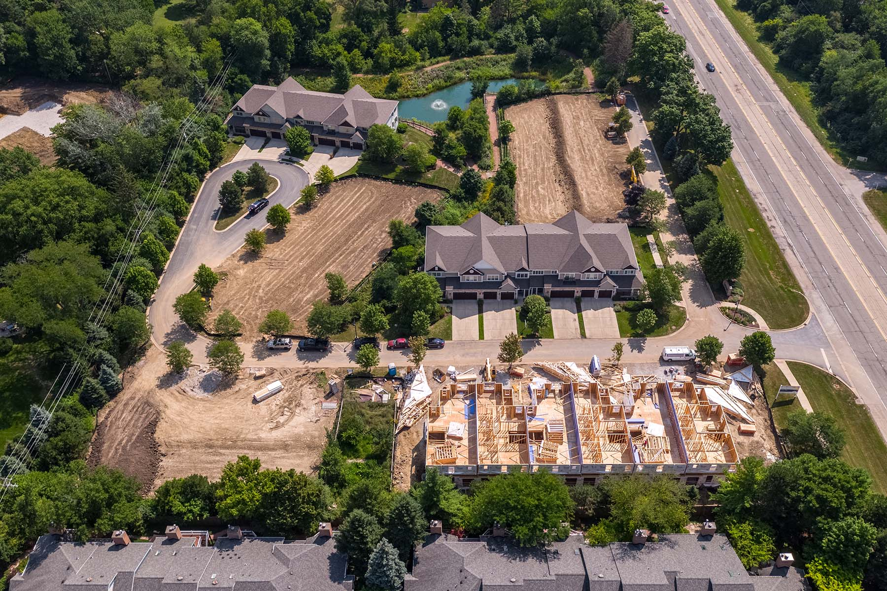 Maple Wood Estates Aerial