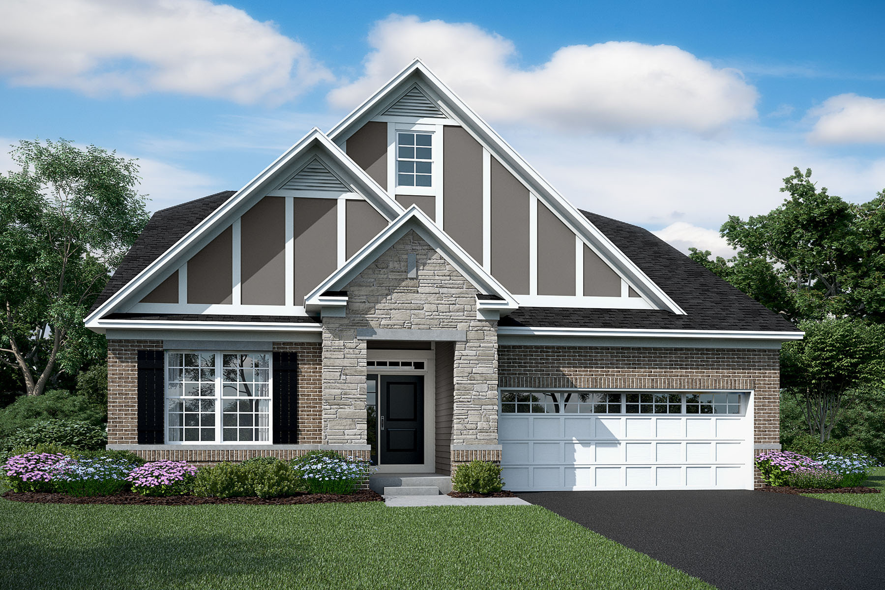 Elbridge Elevation EC English Country