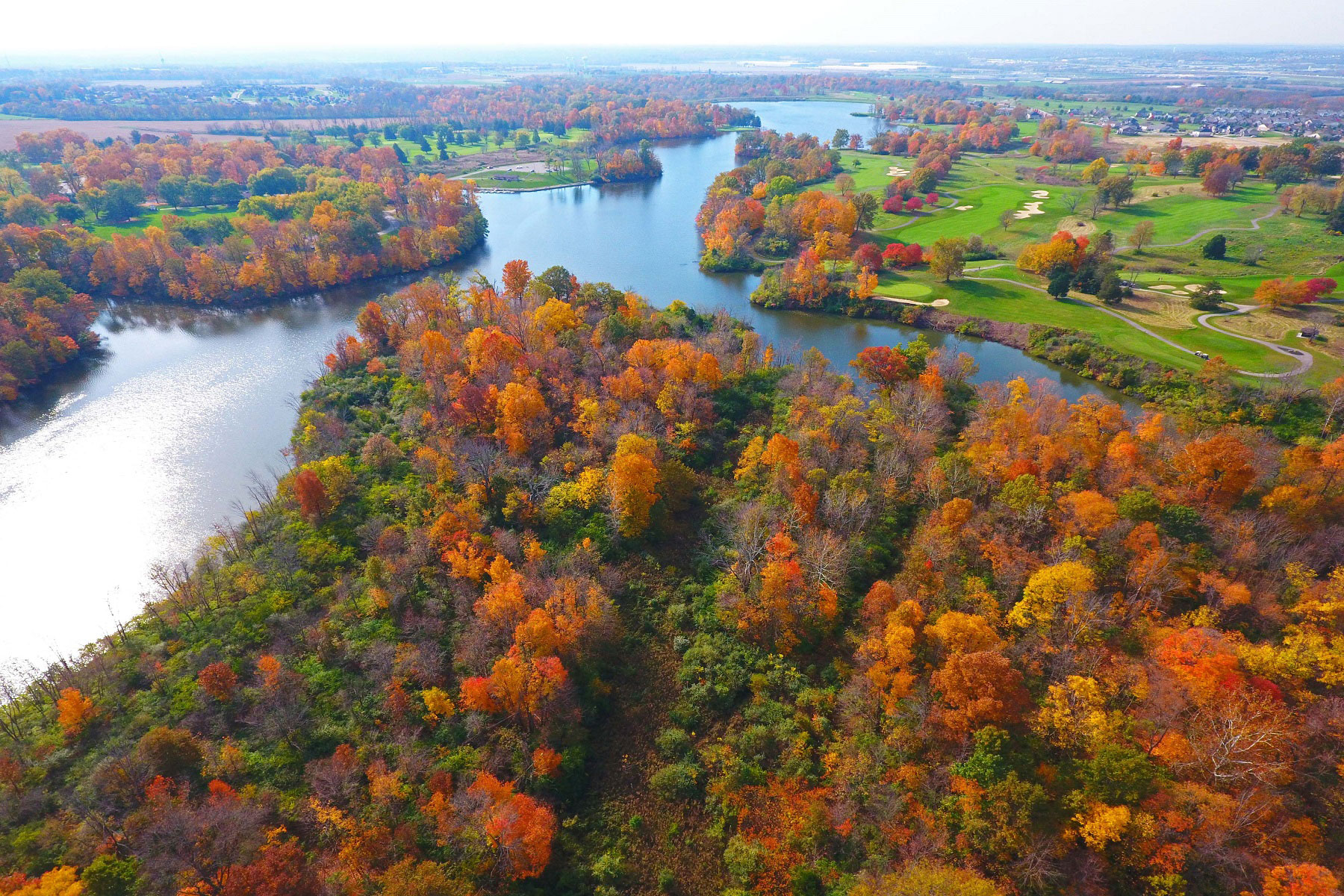 Trails of Shaker Run Woods Aerial