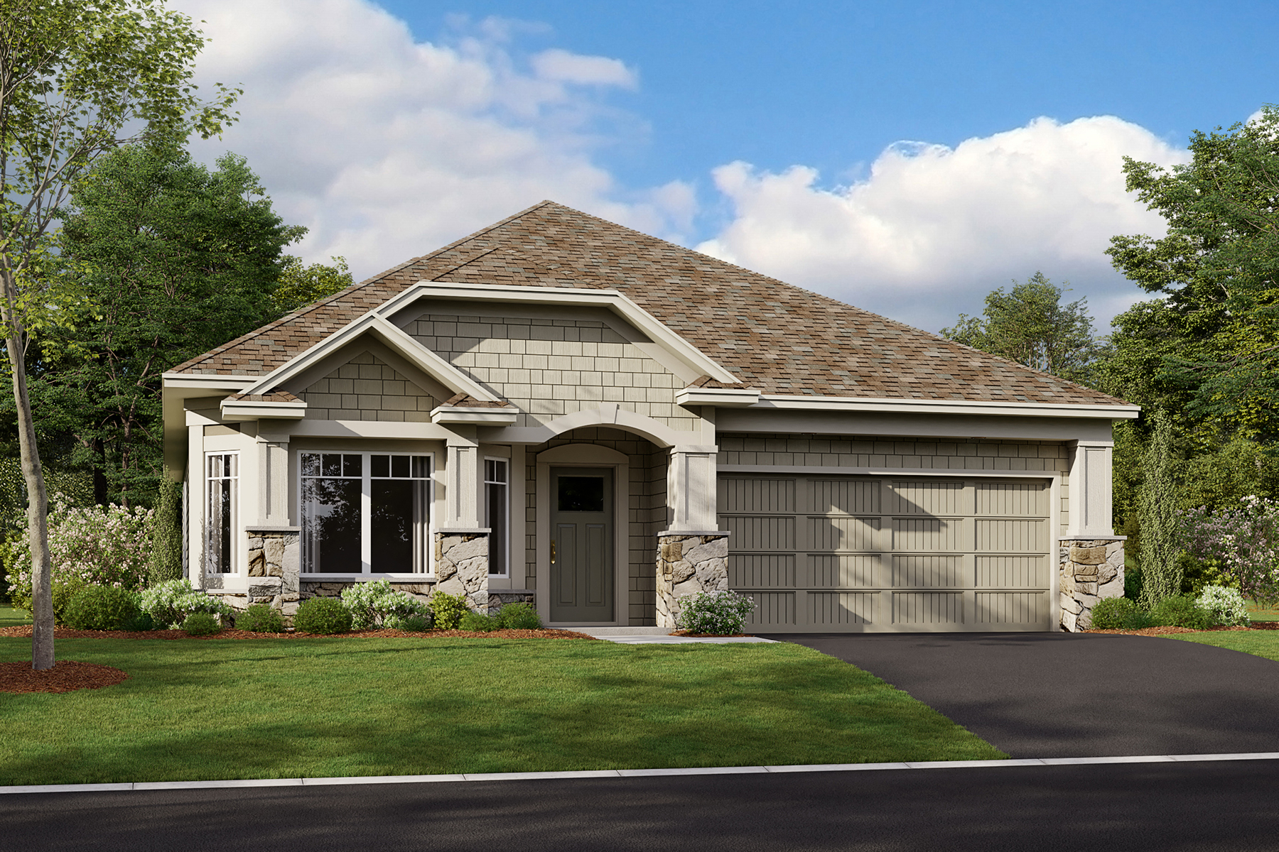 Cedarwood Elevation E - Stone