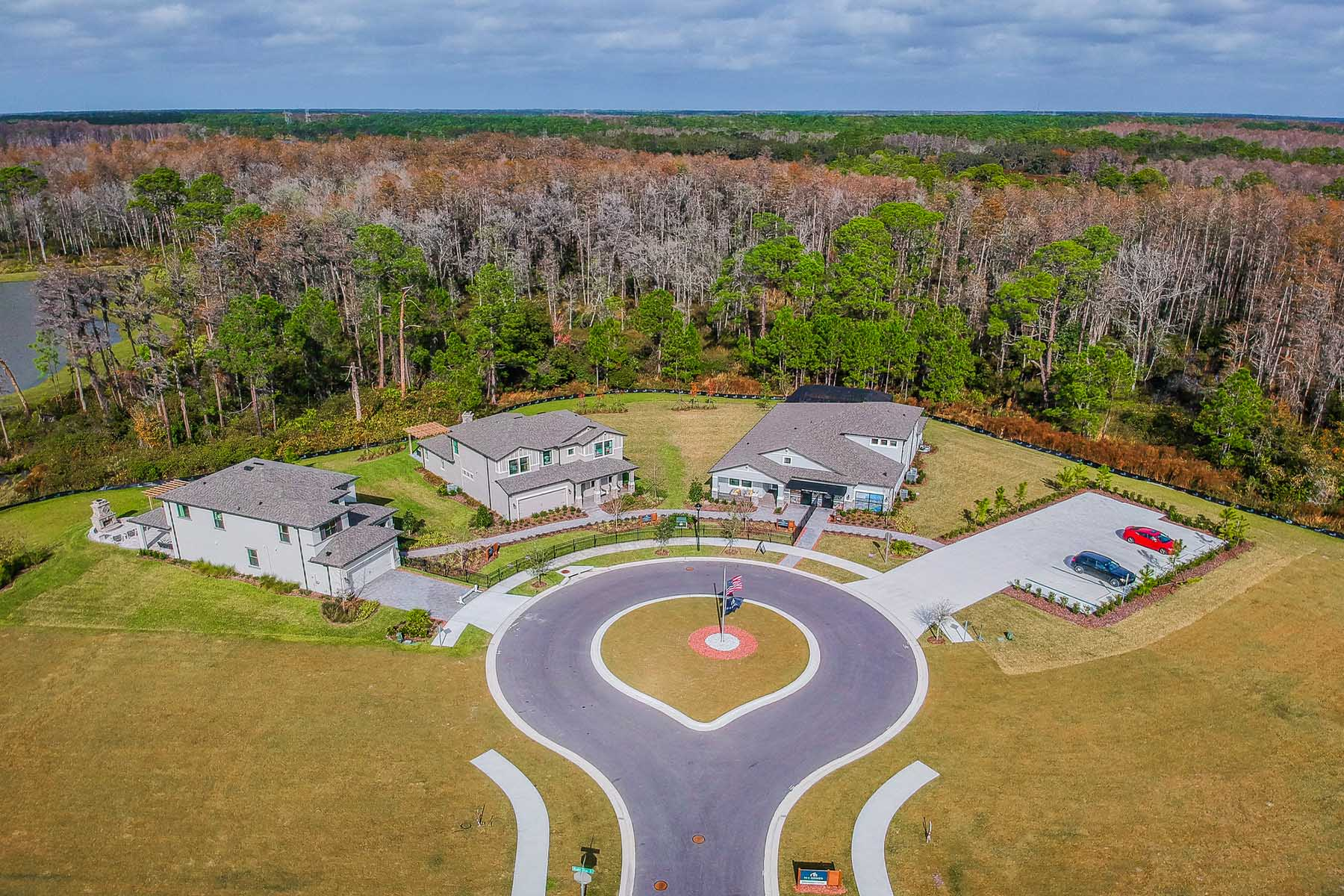 Starkey Ranch Albritton Park Village Aerial