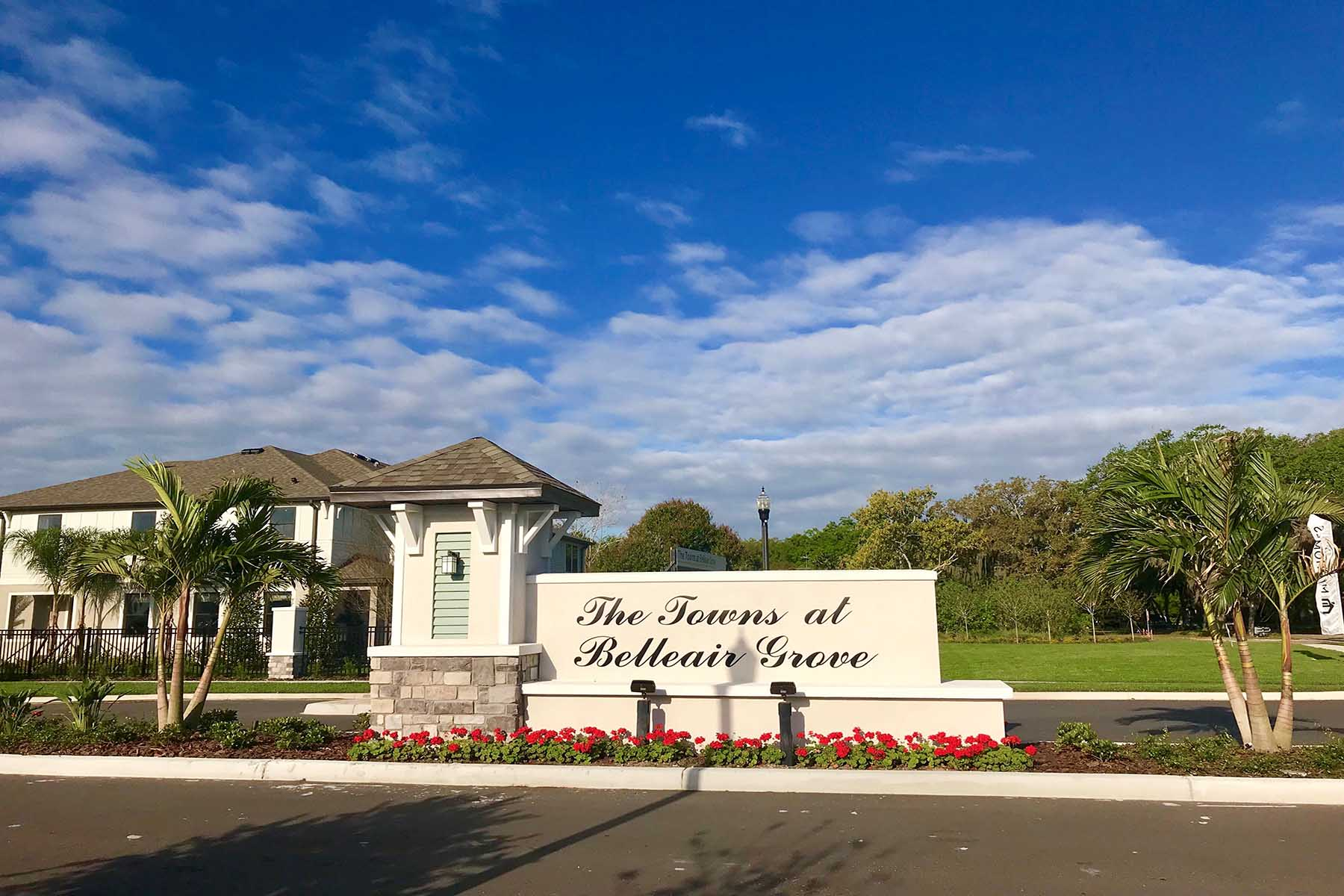 The Towns at Belleair Grove Entrance