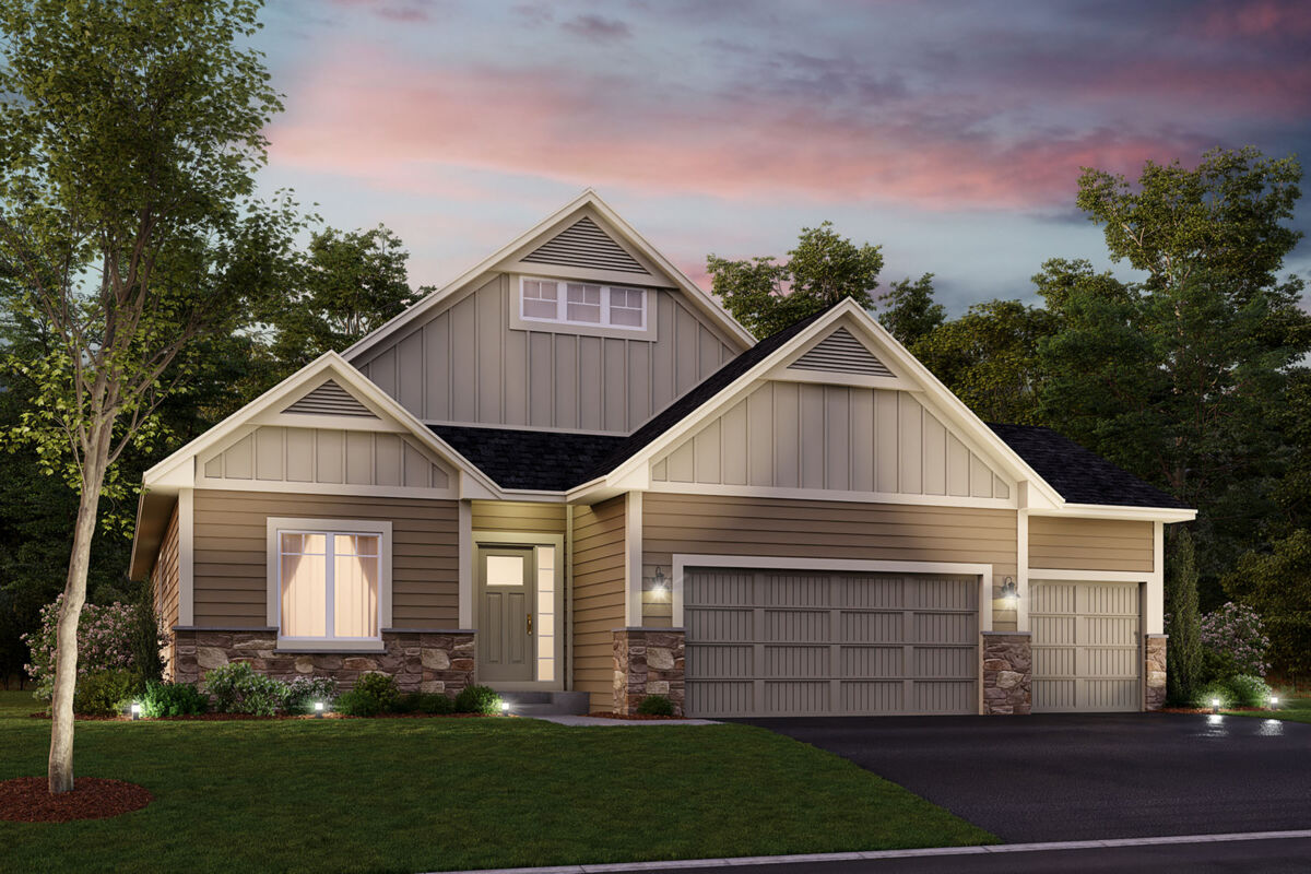 Sycamore Elevation A – Stone 3-Car