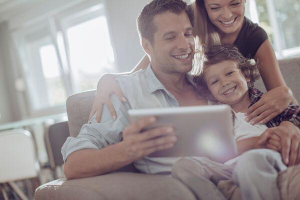Family Looking at iPad