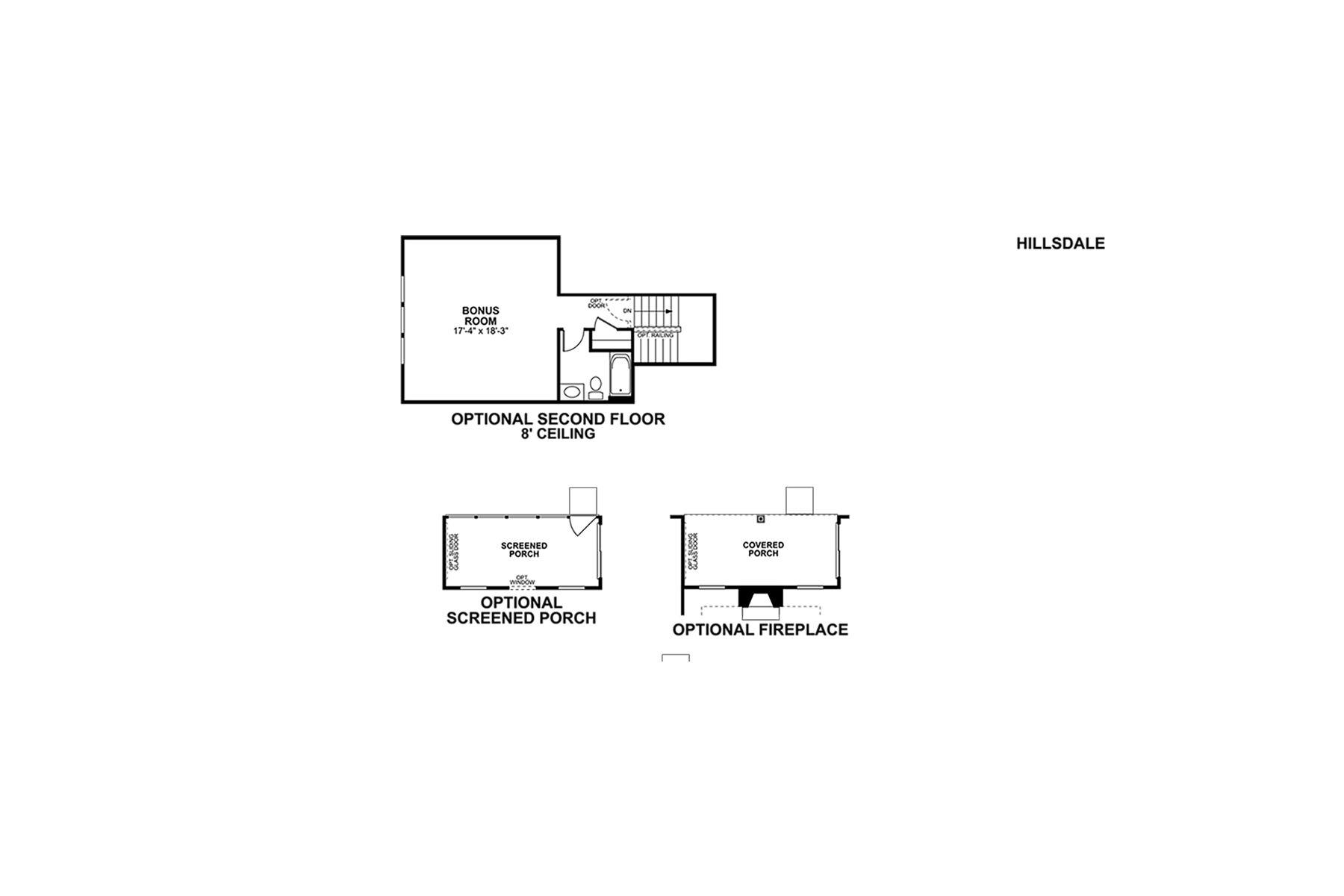 Hillsdale Floorplan Options
