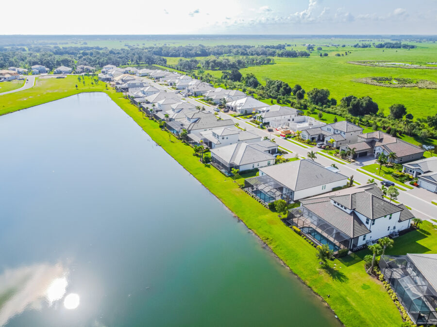Rivo Lakes Aerial Streetscape
