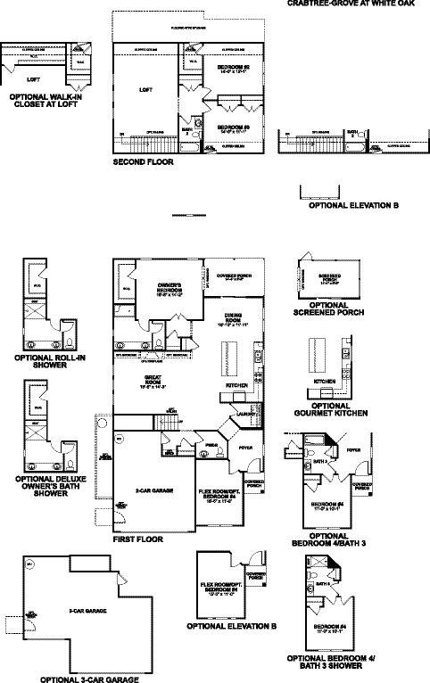Crabtree-Grove at White Oak-Static Floorplan