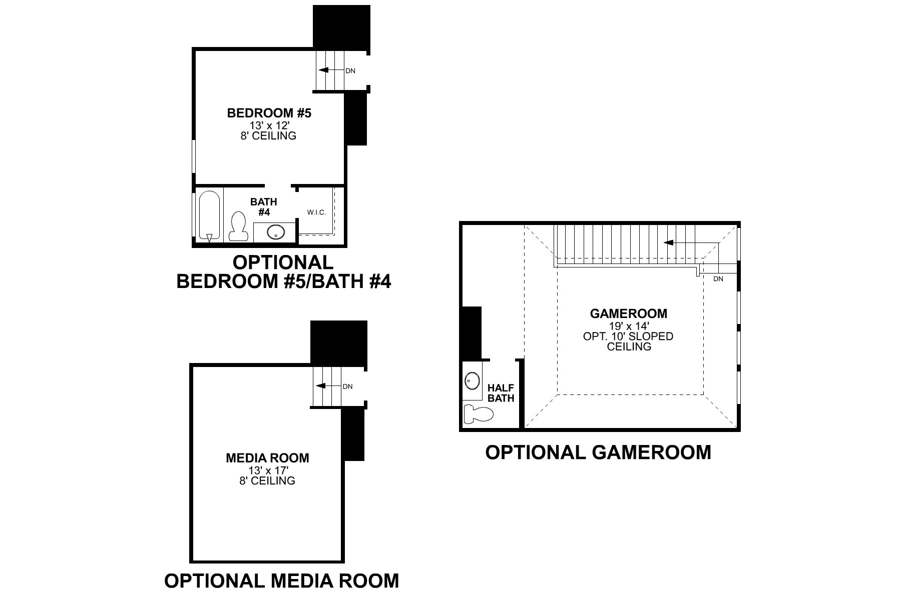 Folsom Second Floor Options