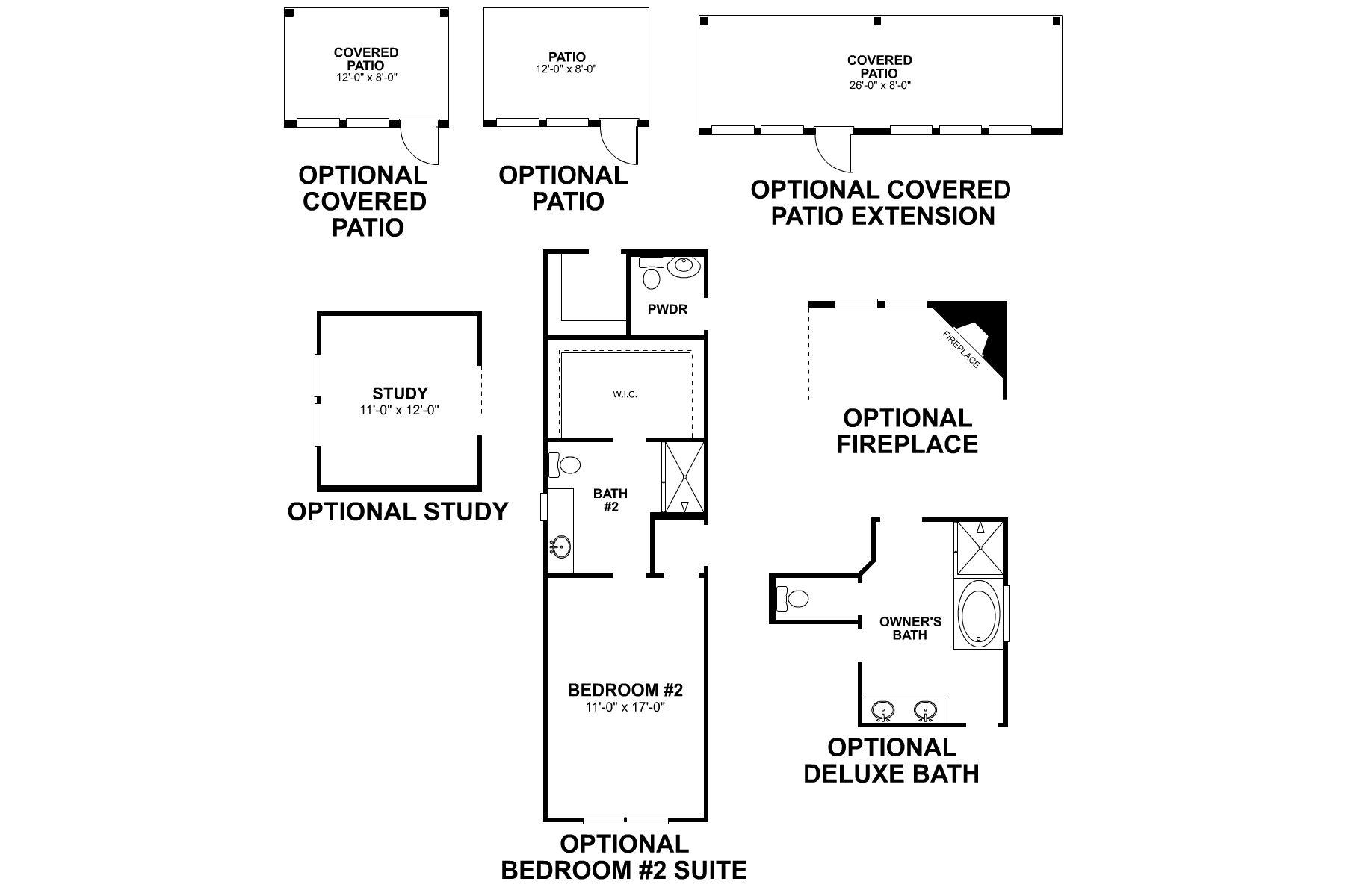 Balcones First Floor Options
