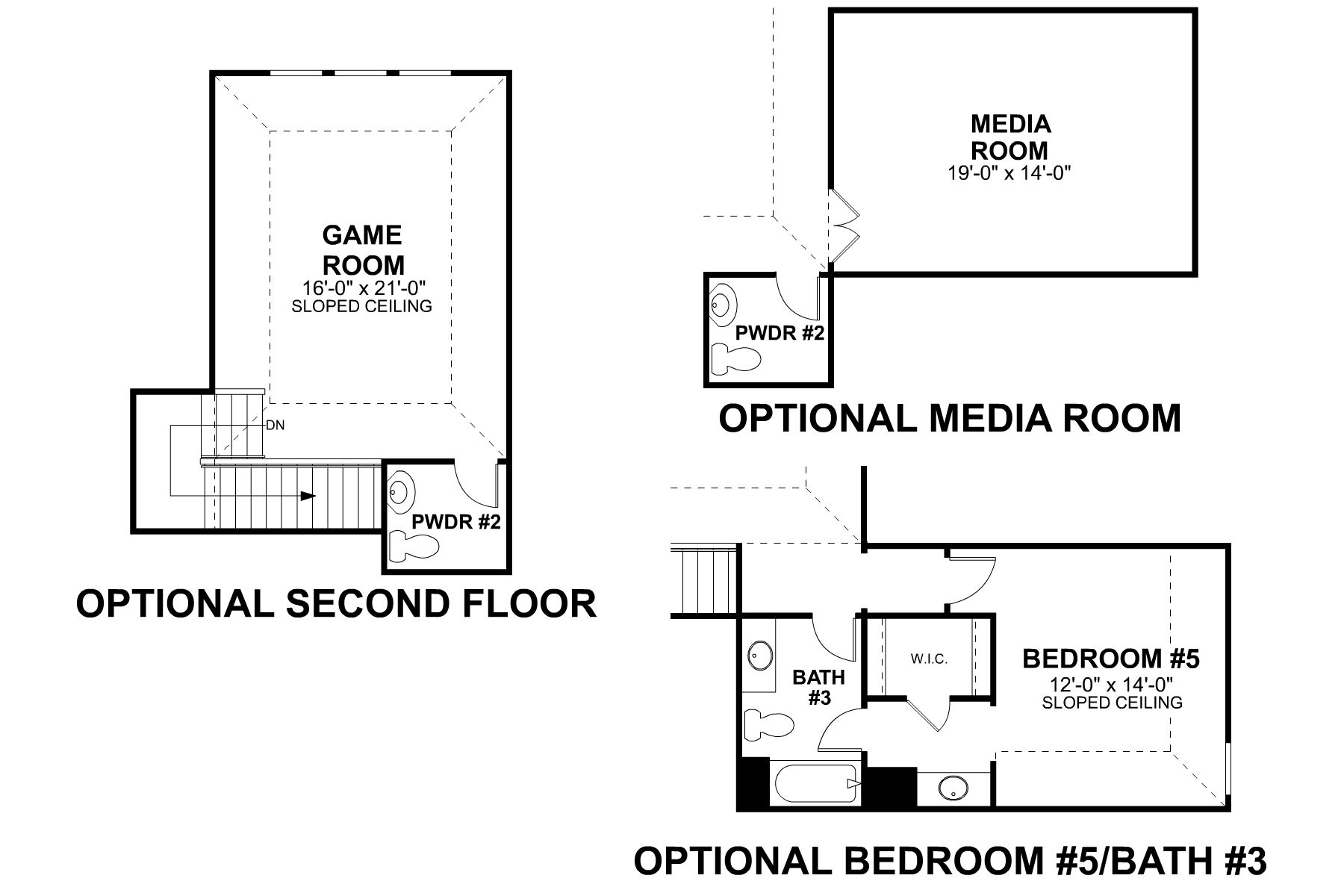 Sabine Second Floor Options