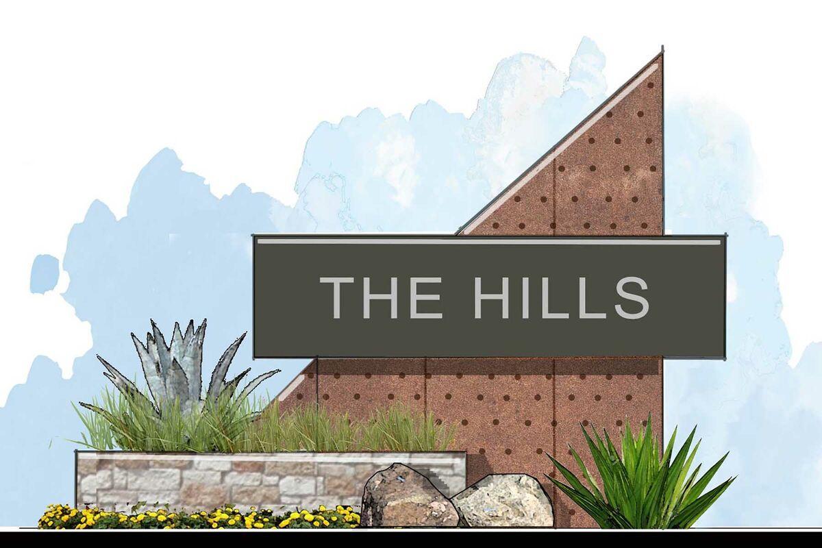 Hills at Estancia Entrance