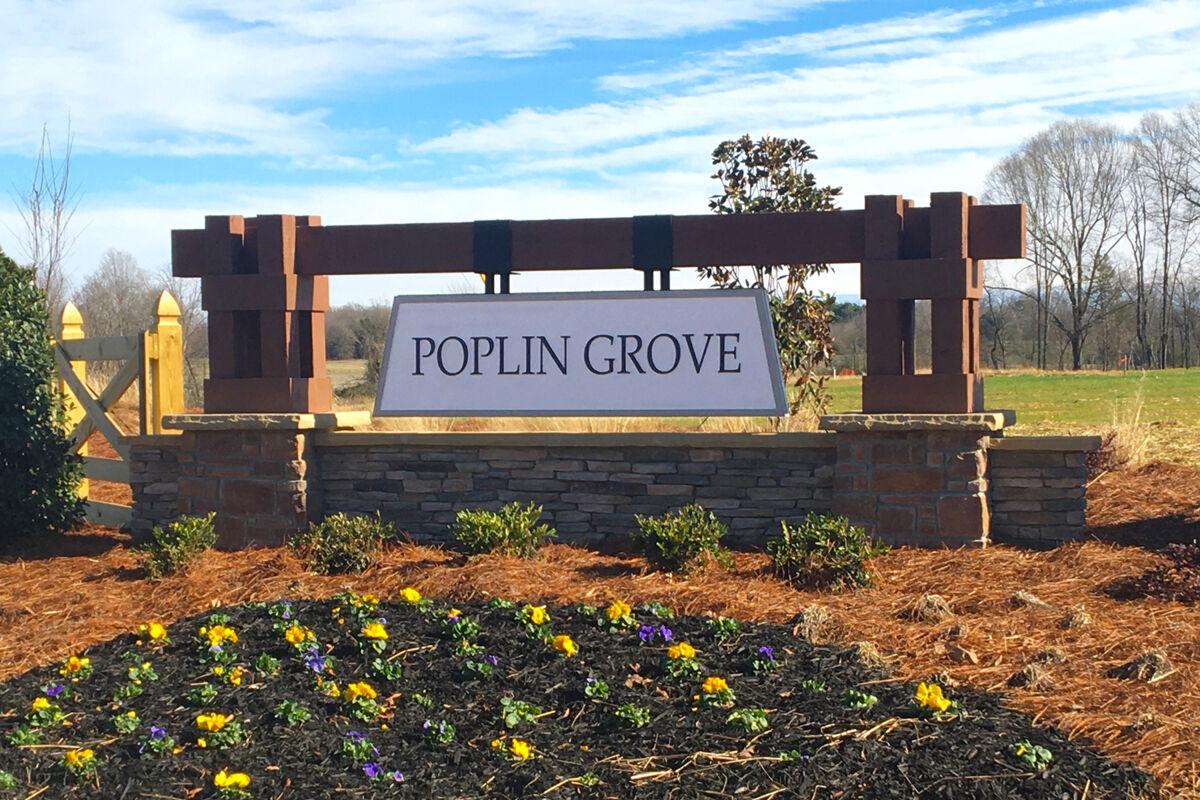 Poplin Grove Entrance