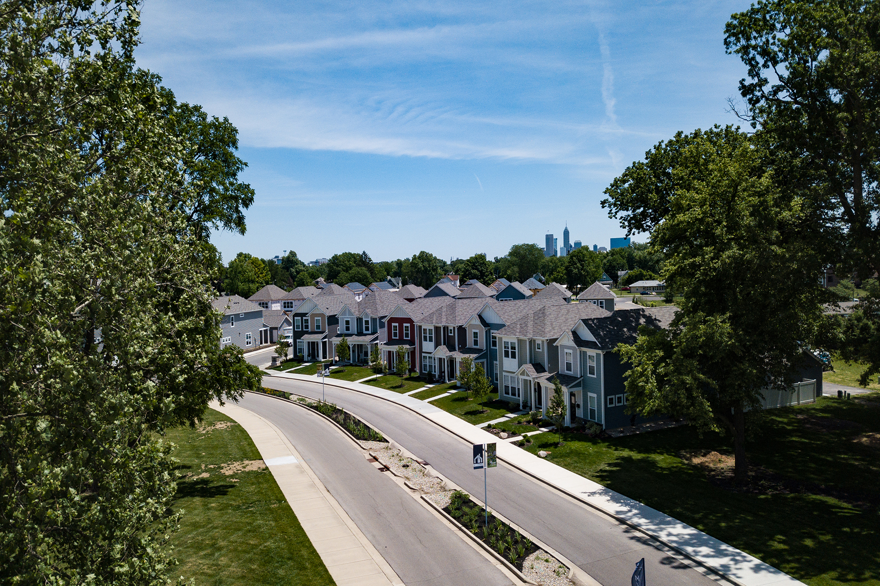 Bolton Square at Central State Aerial