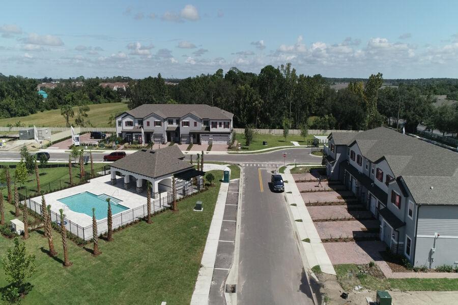 Towns at White Cedar Aerial