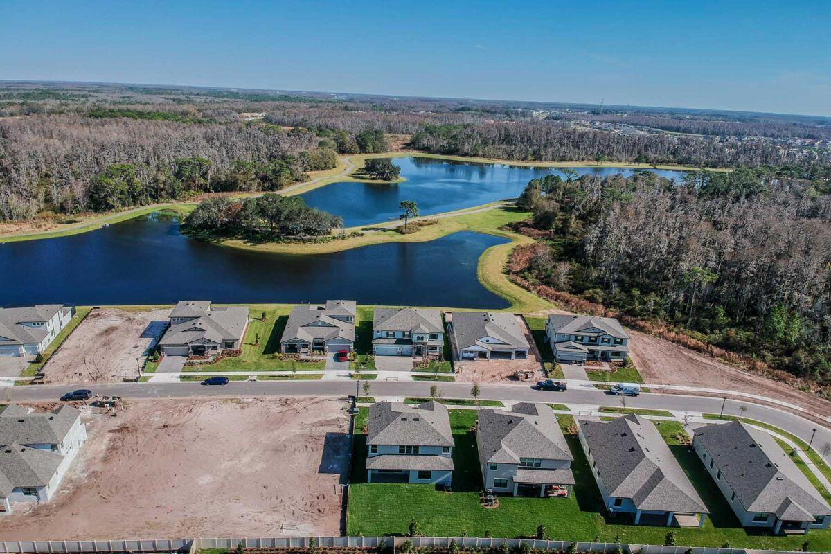 Starkey Ranch Albritton Park Village Aerial