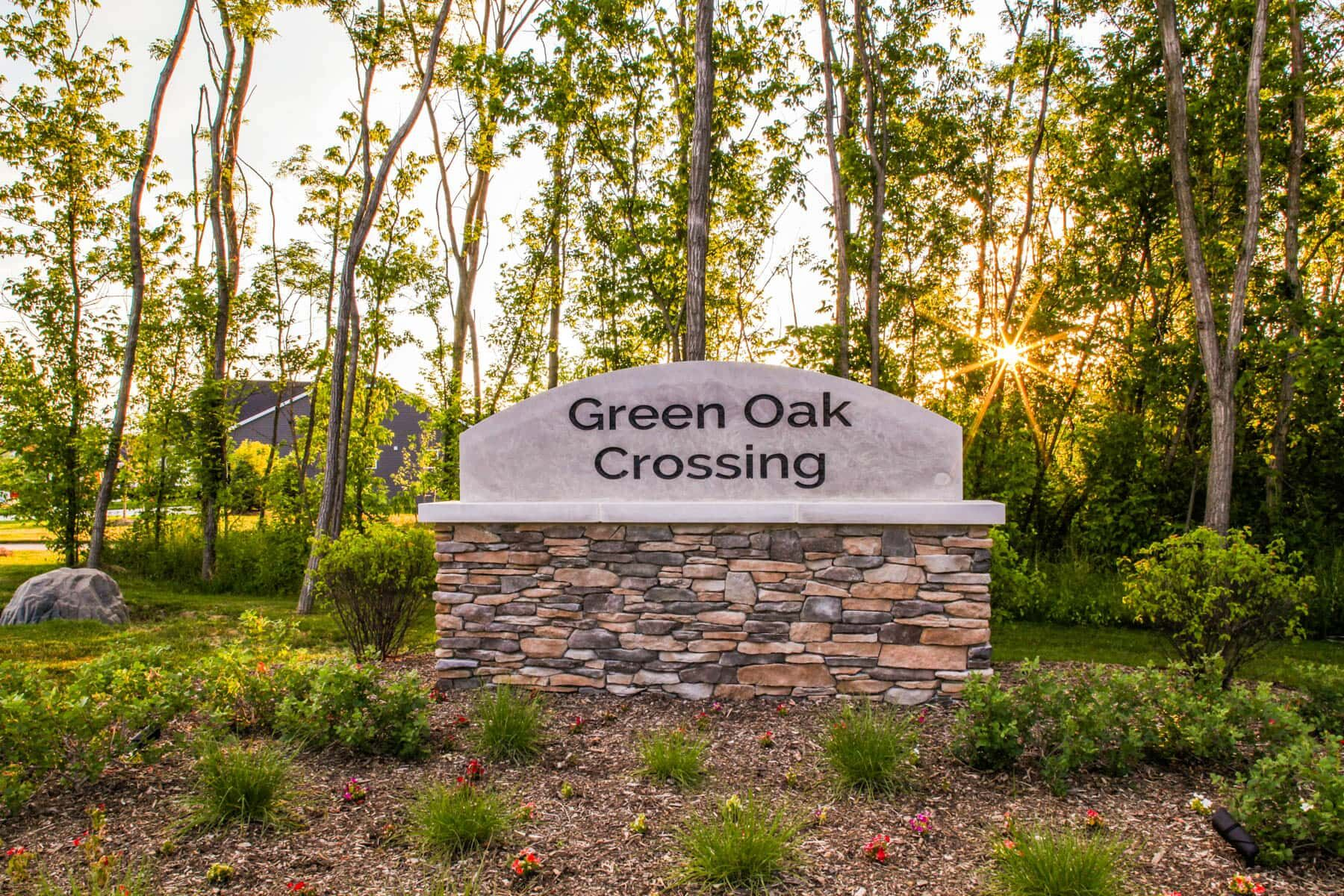 Green Oak Crossing Entrance
