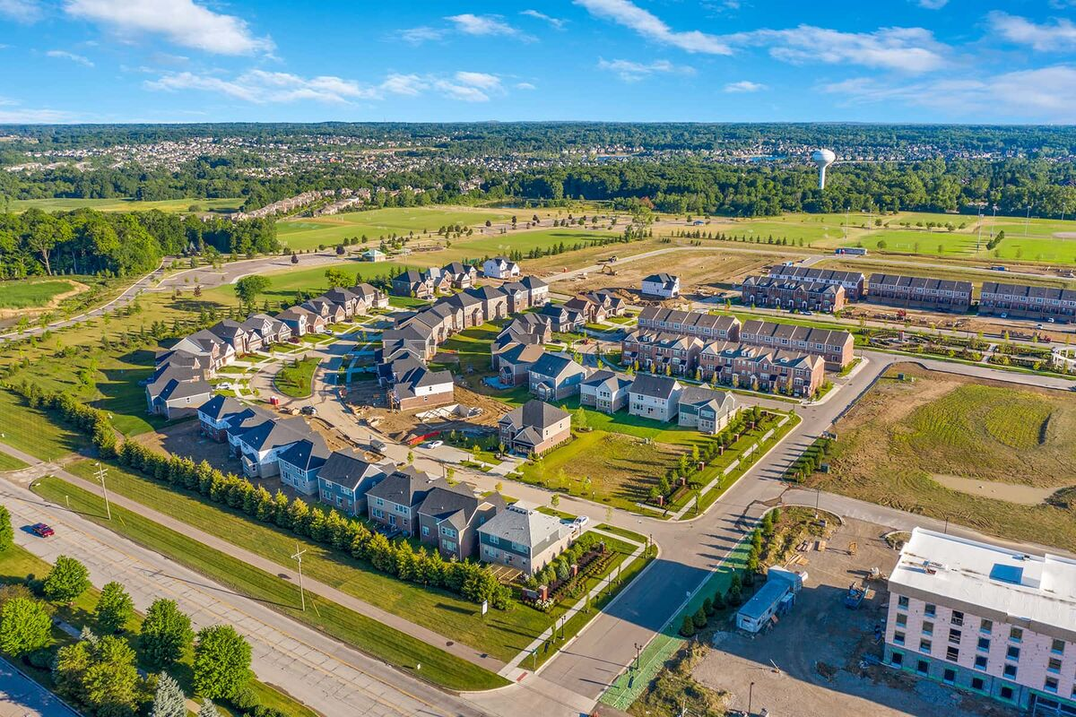 Village at Northville Townhomes Aerial