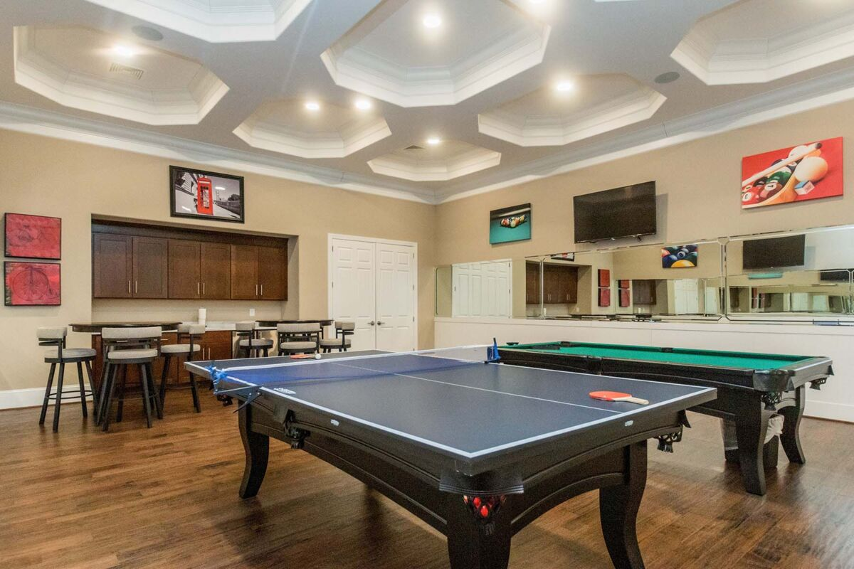 Ellis Crossing Townes Clubhouse Billiard Room