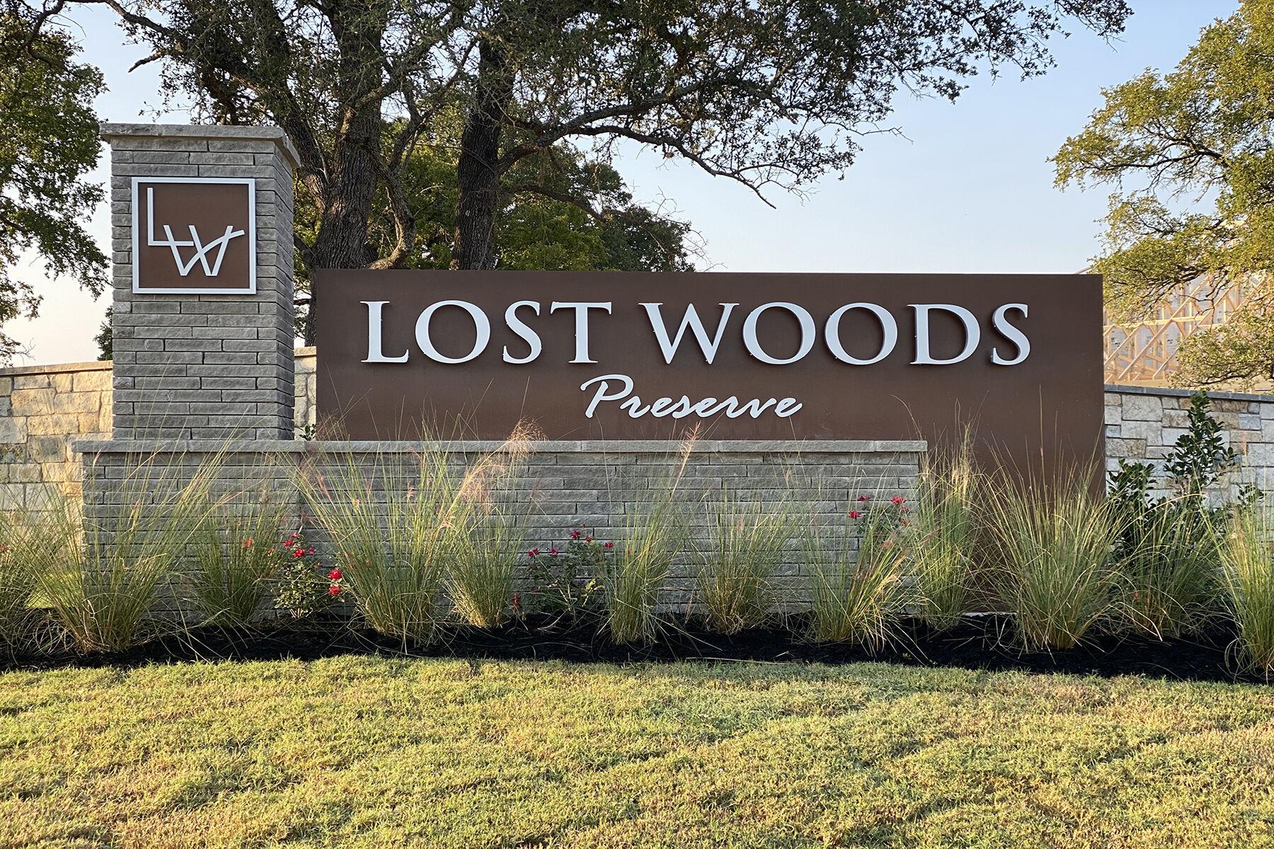 Lost Woods Preserve Entrance