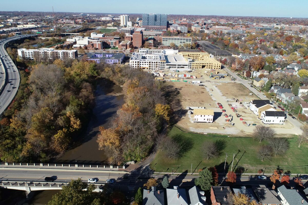 Founders Park at Harrison West Aerial