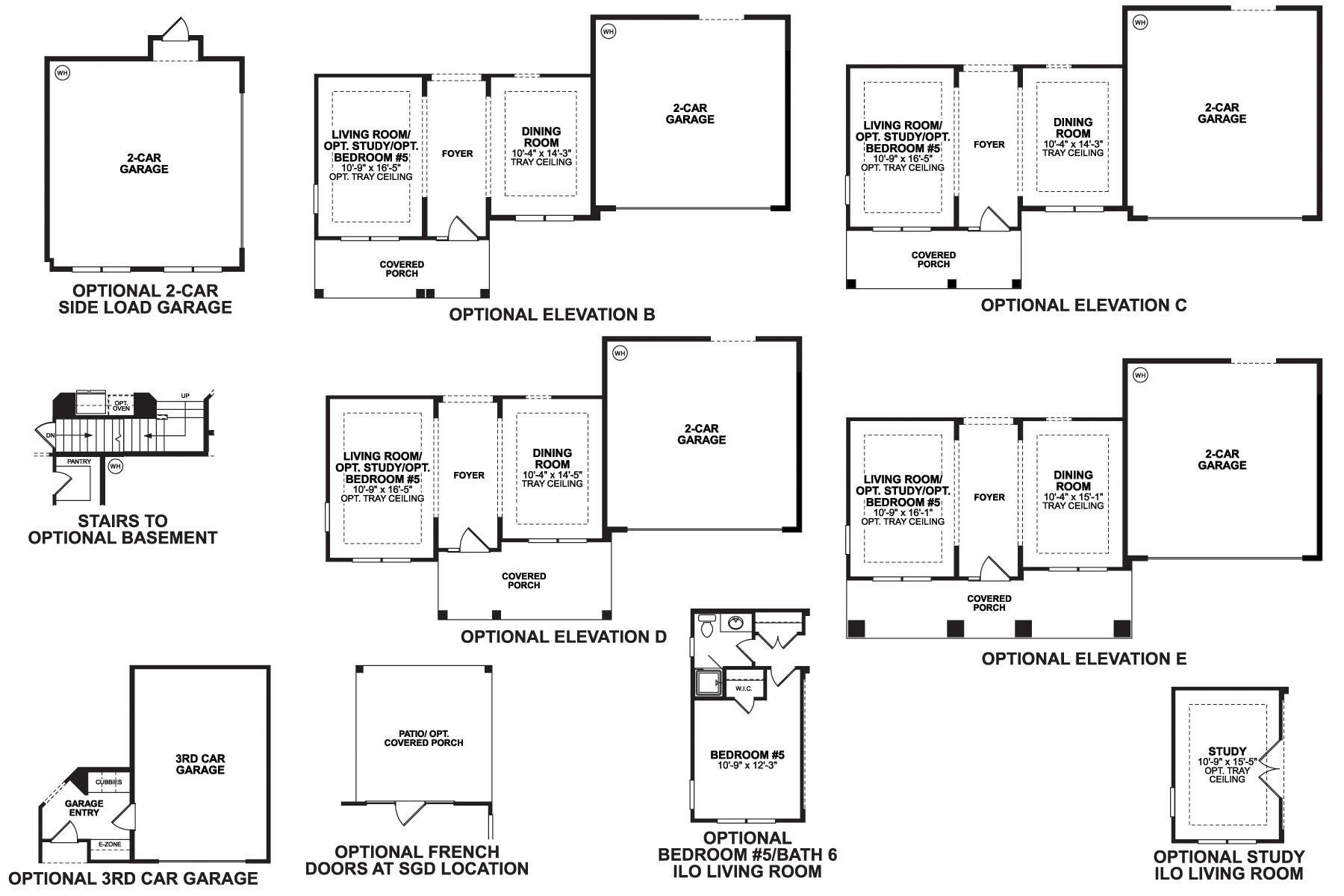 Ashton First Floor Options