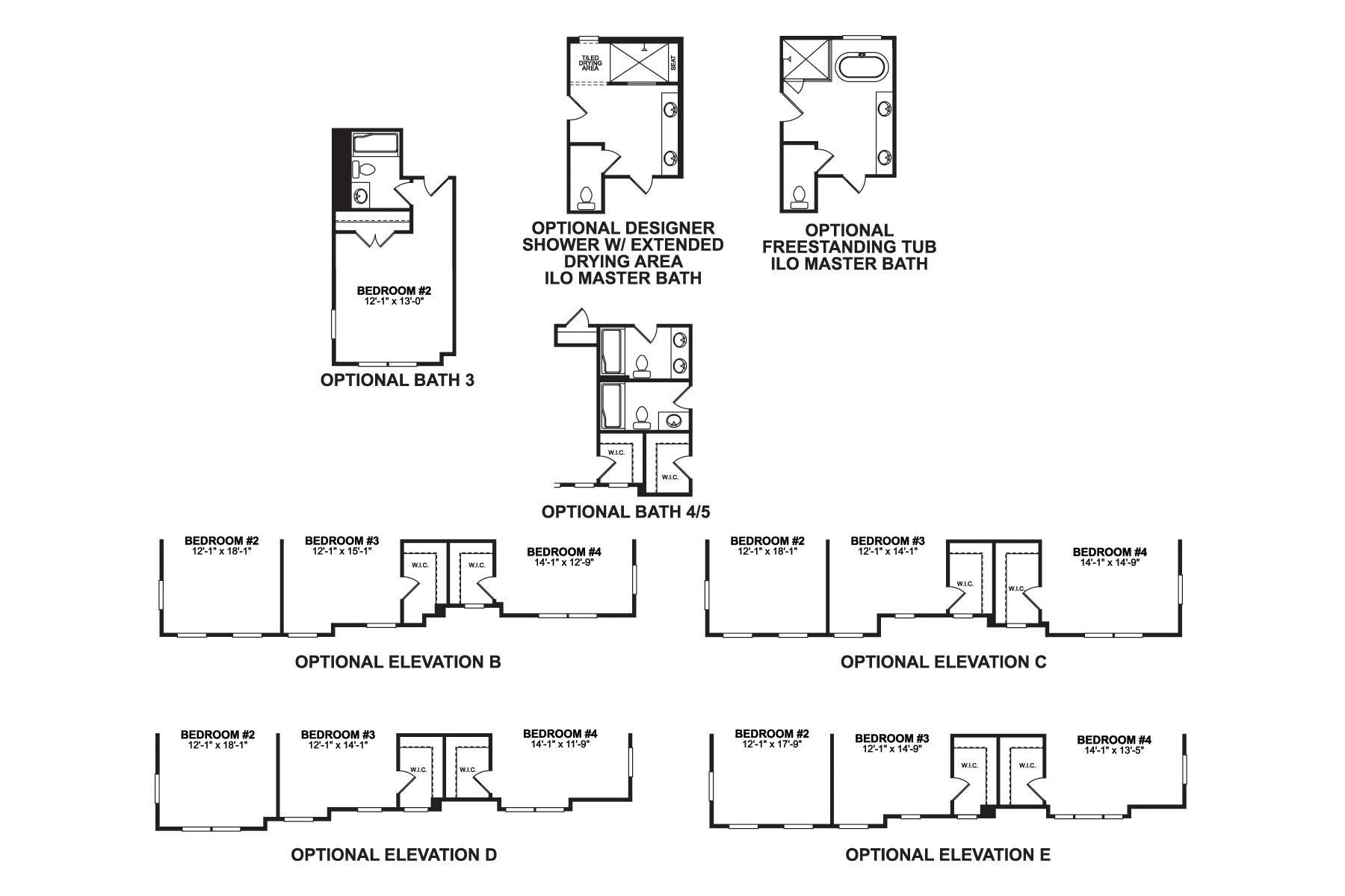 Ashton Second Floor Options