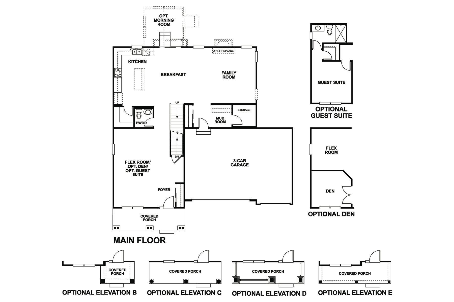 Gresham 3-Car Floorplan