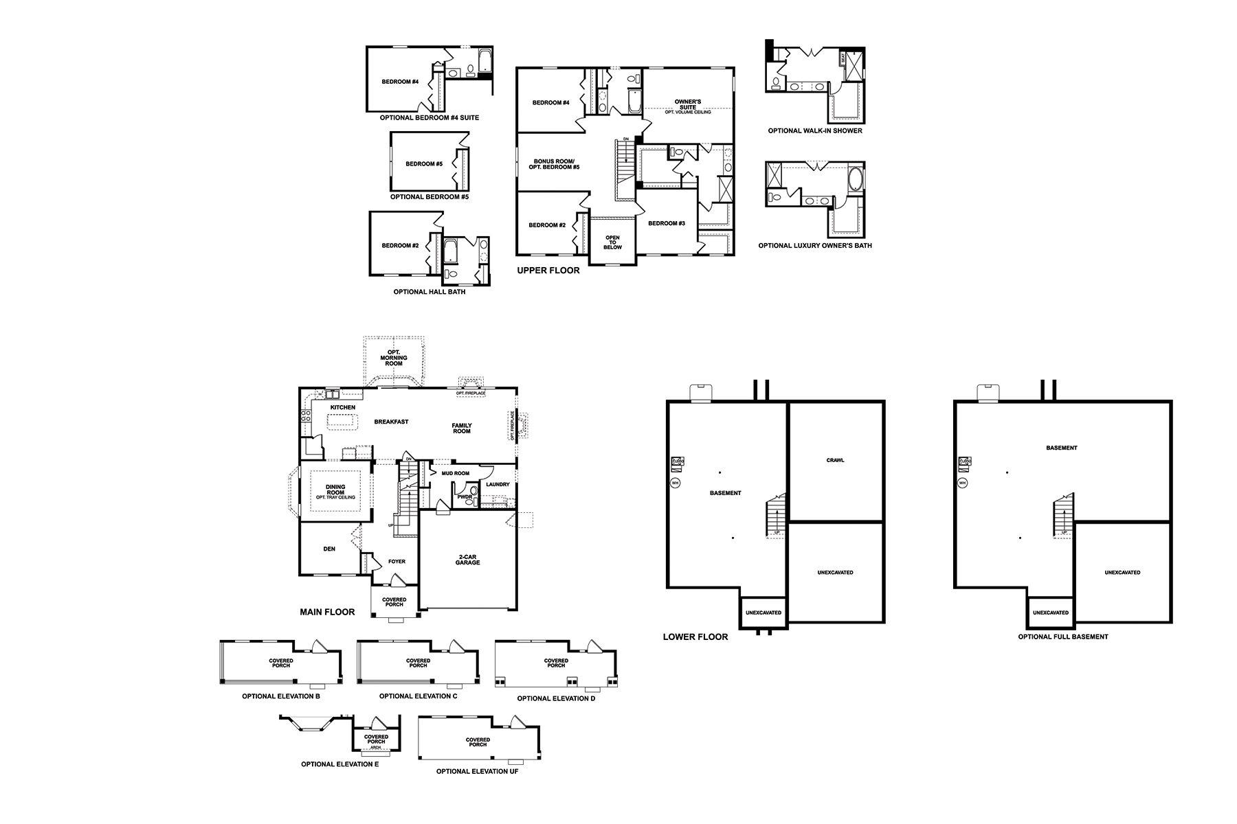 Fairbanks 2-Car Floorplan