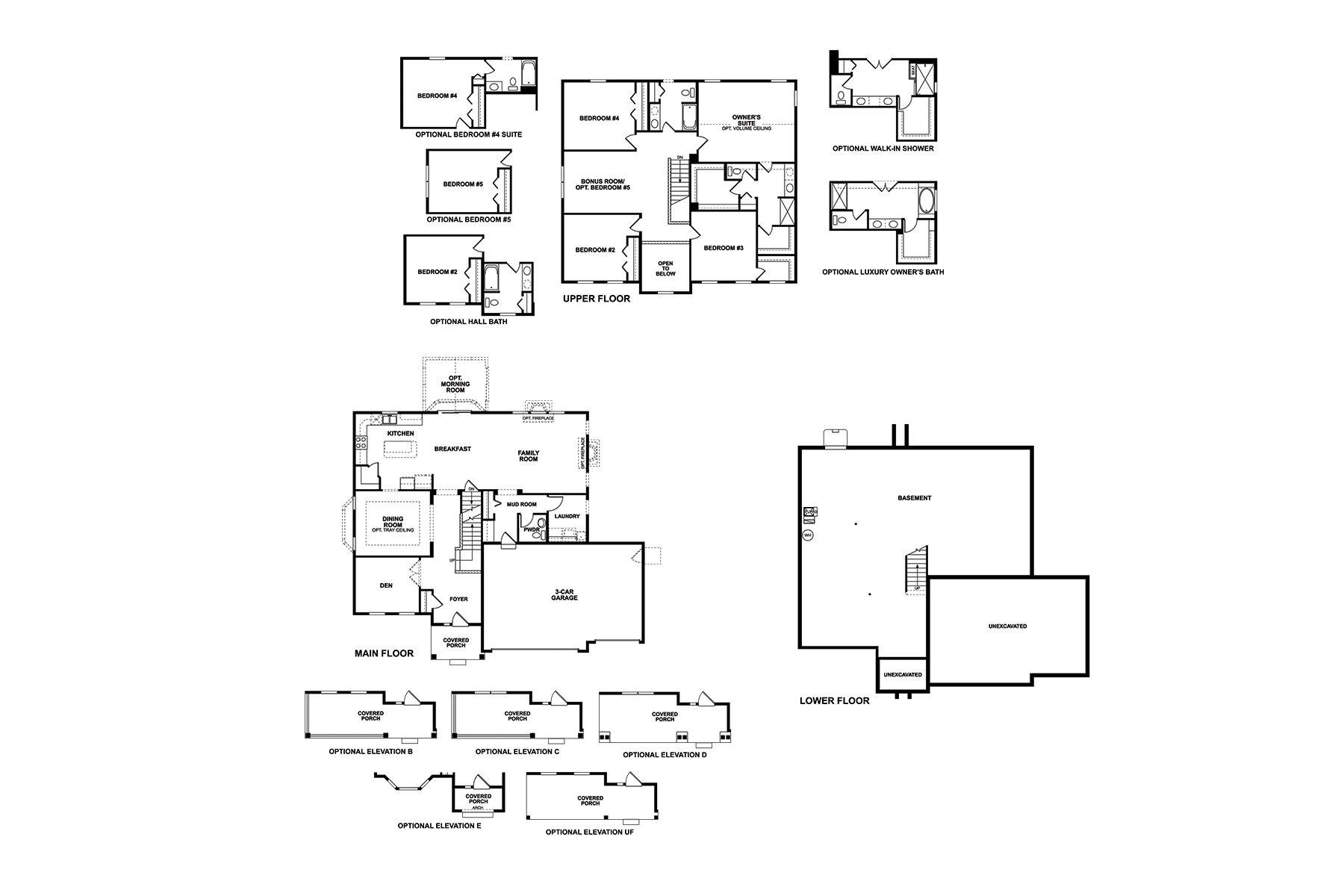 Fairbanks 3-Car Floorplan