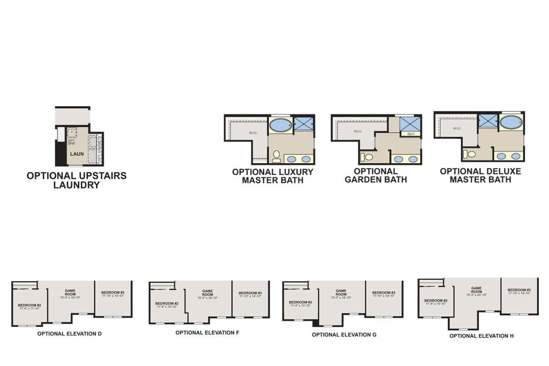 Sorrel Classic First Floor Options