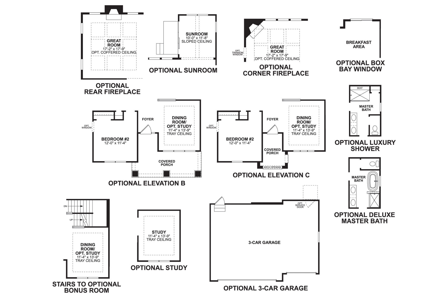 Stafford First Floor Options