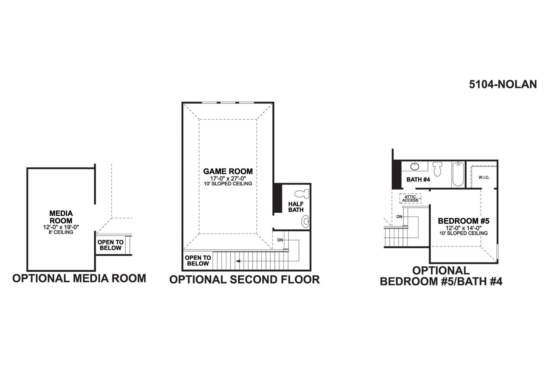 Nolan Second Floor Options