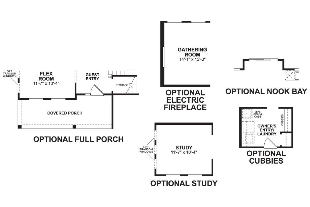 Tarkington First Floor Options