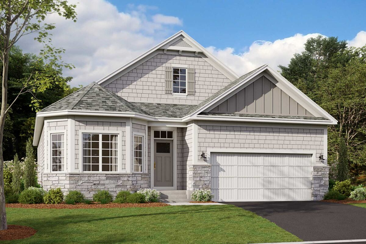 Graystone Elevation C - Stone