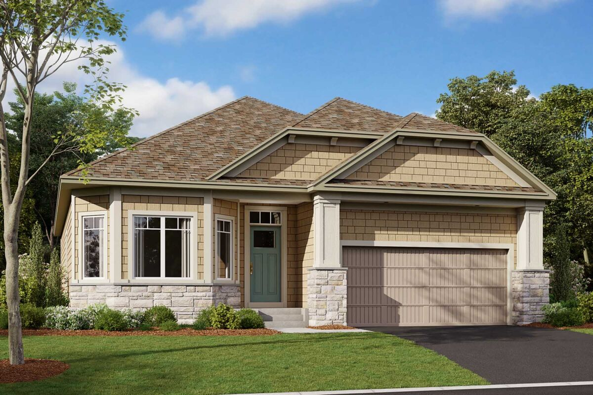 Graystone Elevation F - Stone