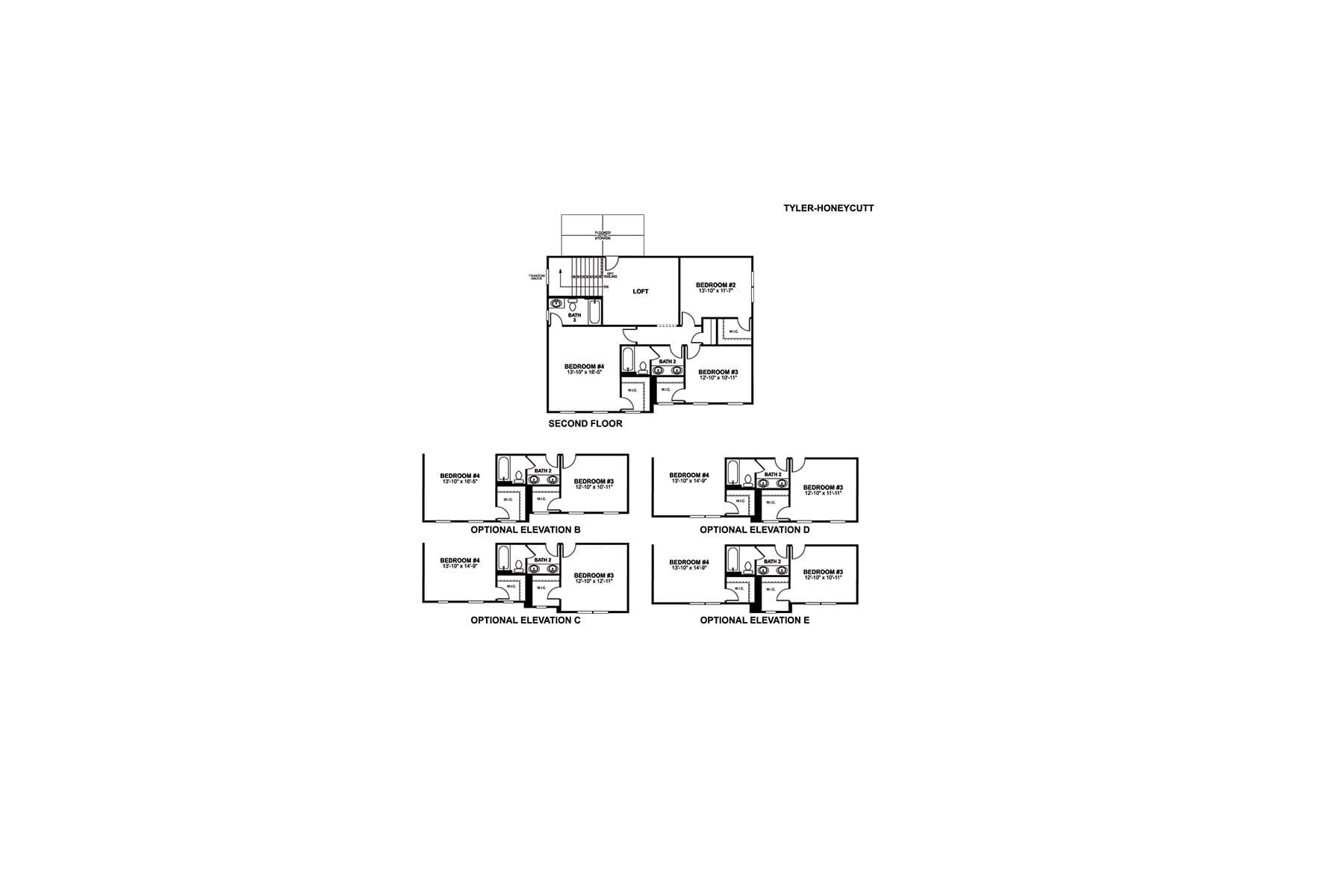 Tyler Floorplan Options