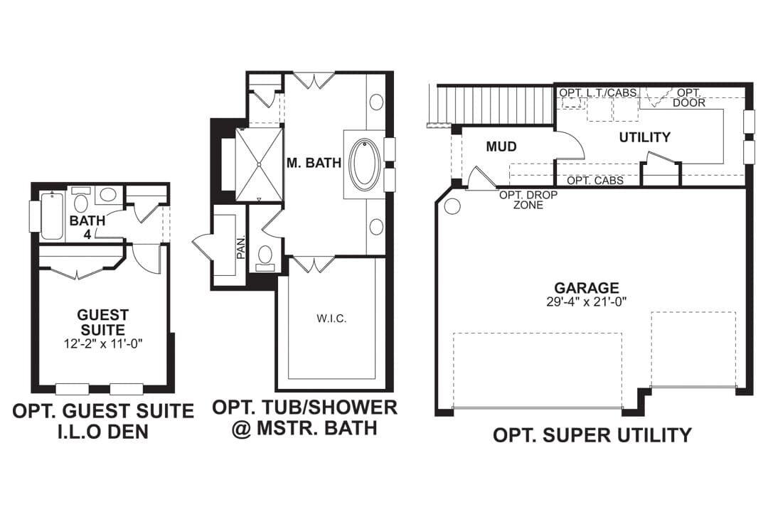 Juniper First Floor Options