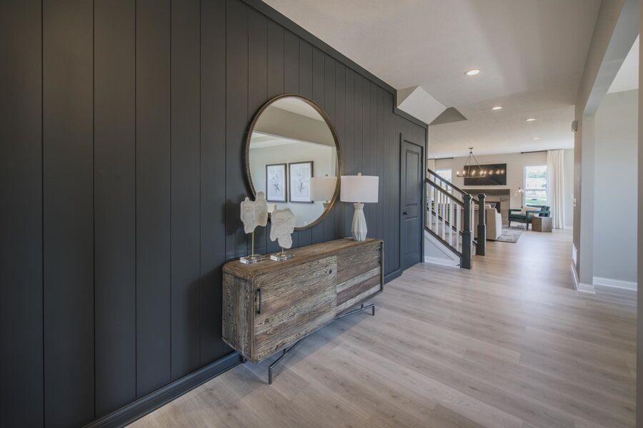 Monochrome Gray Foyer